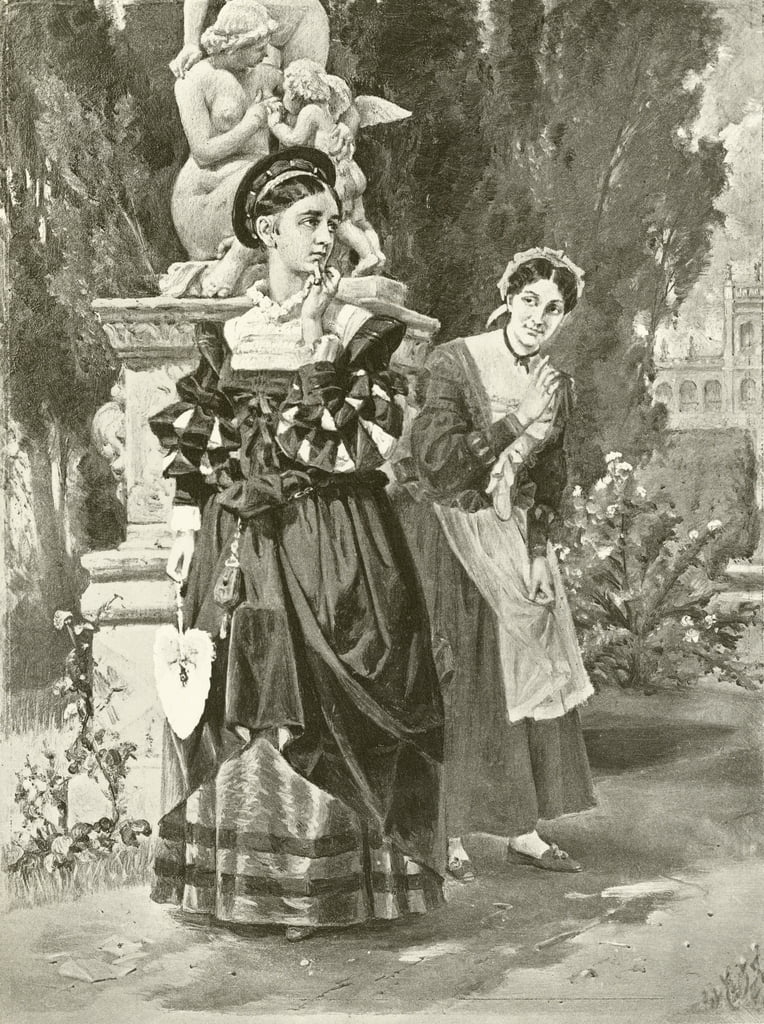 Two Gentlemen of Verona. Act I, Scene II (gravure) by Felix Octavius Carr Darley