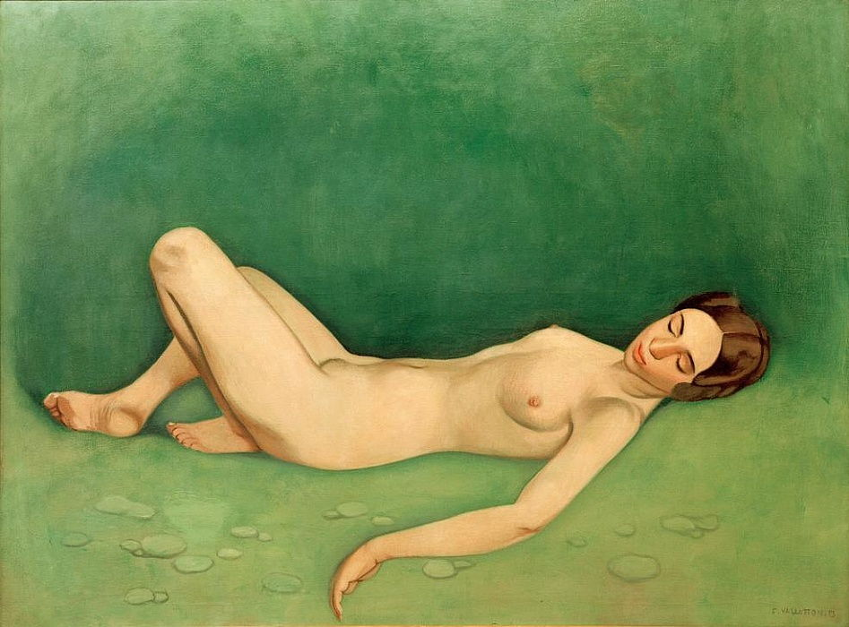 Baigneuse dormant (Femme nue couchée dormant) by Felix Edouard Vallotton