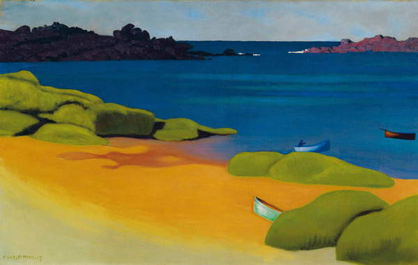 Bay at Tregastel, 1917 by Felix Edouard Vallotton