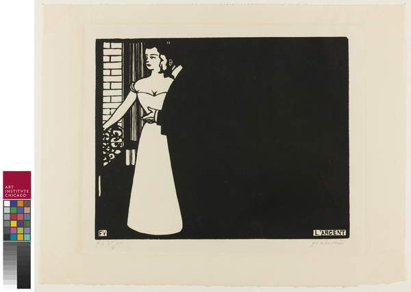 Money, plate five from Intimacies, 1898 by Felix Edouard Vallotton
