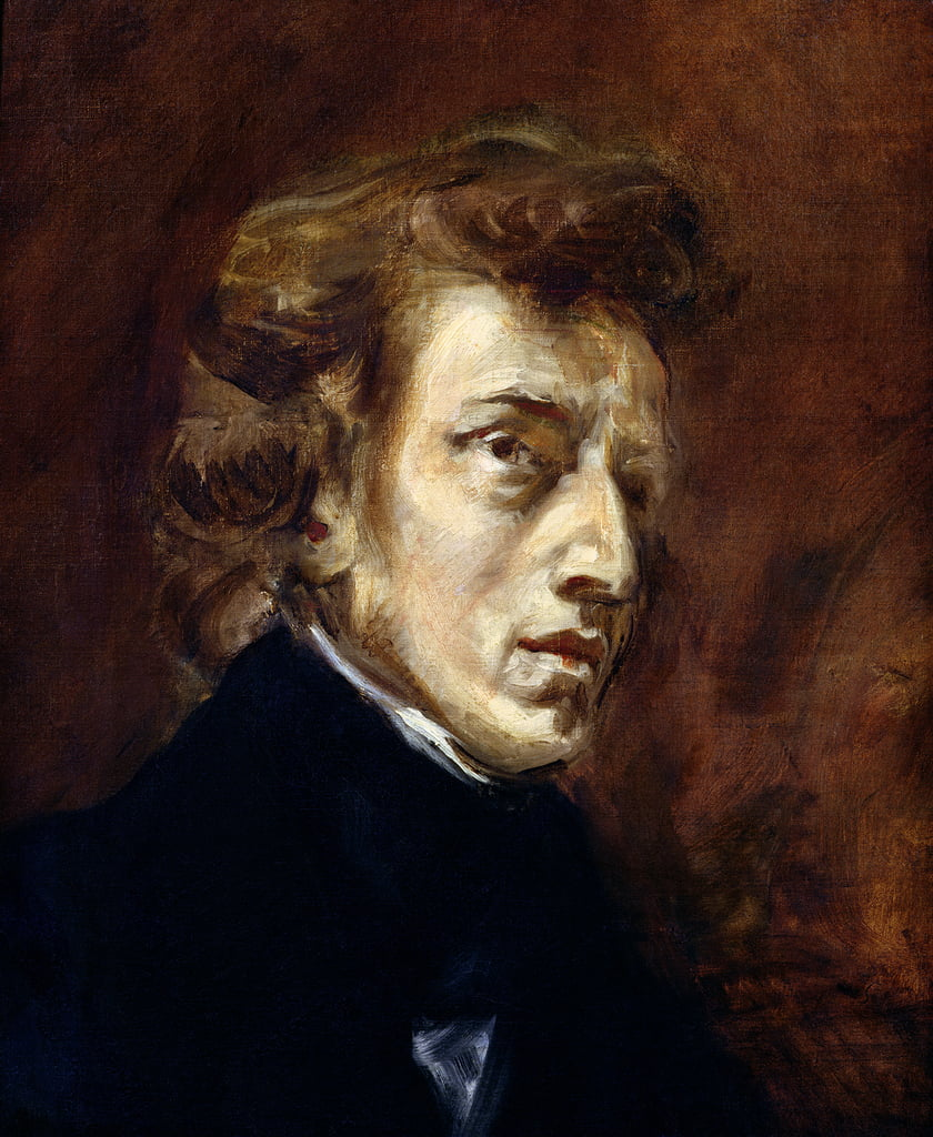 Frederic Chopin (1810-49) 1838  by Ferdinand Victor Eugene Delacroix