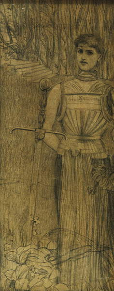 "Proposed Frontispiece for the Works of Villiers de l""Isle Adam; Projet de Frontispice pour les Oeuvres de Villiers de l""Isle Adam, c. 1891 by Fernand Khnopff"