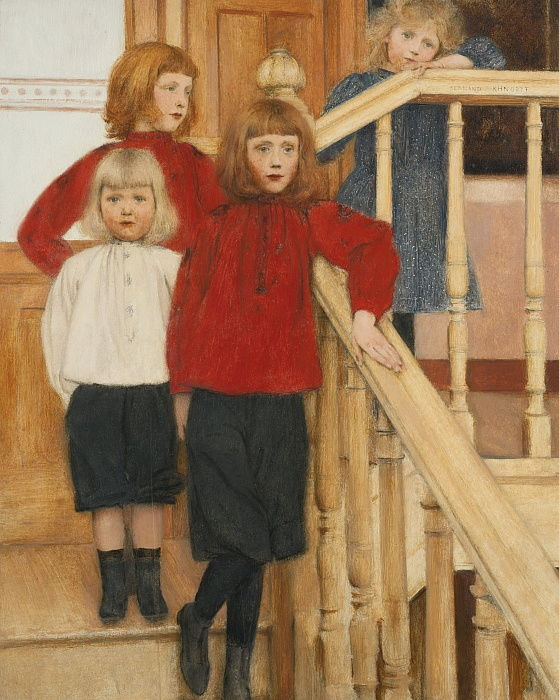 The Children of Monsieur Nève by Fernand Khnopff