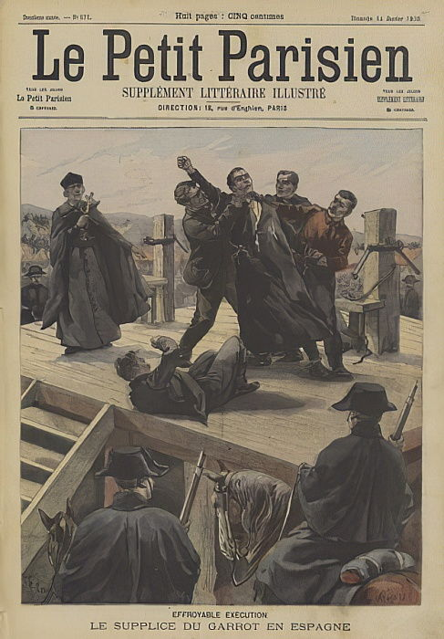 Execution by garrotte in Spain  by Fortune Louis Meaulle