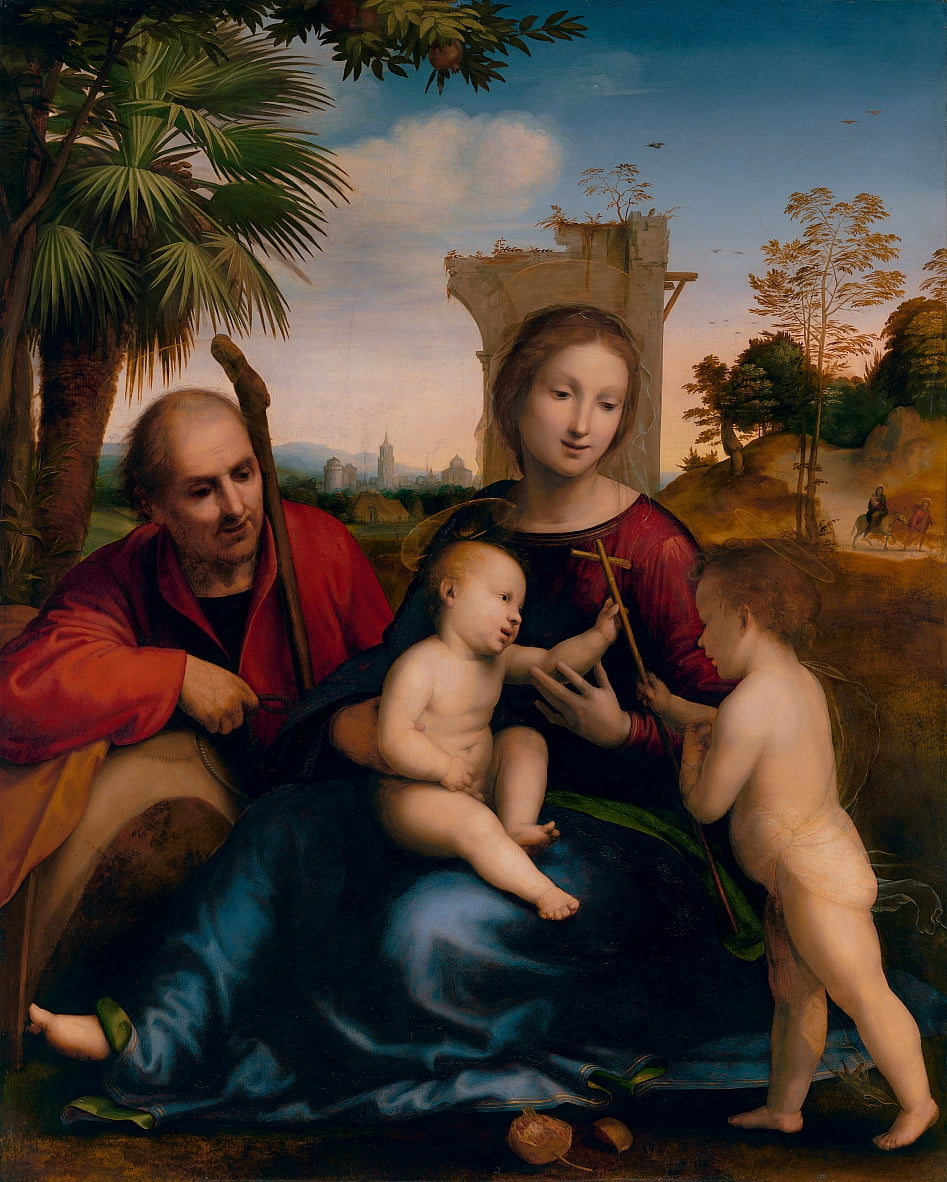 The Rest on the Flight into Egypt with St. John the Baptist (ca. 1509) by Fra Bartolomeo