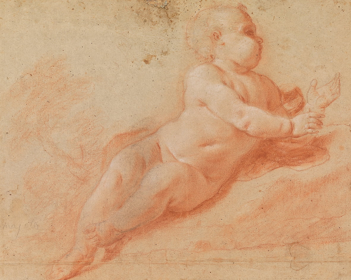 Study of a Nude Child by Francesco Saverio Mergolo