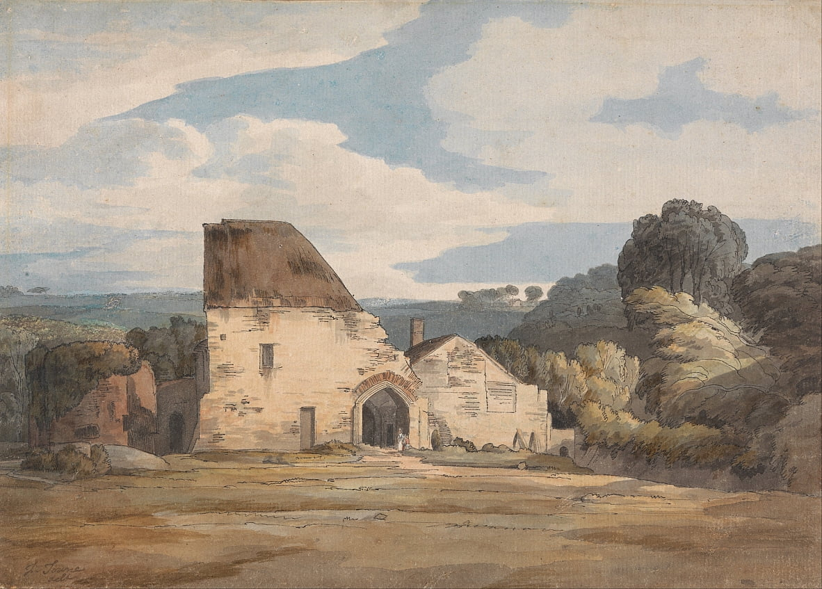 Dunkerswell Abbey, August 20, 1783 by Francis Towne