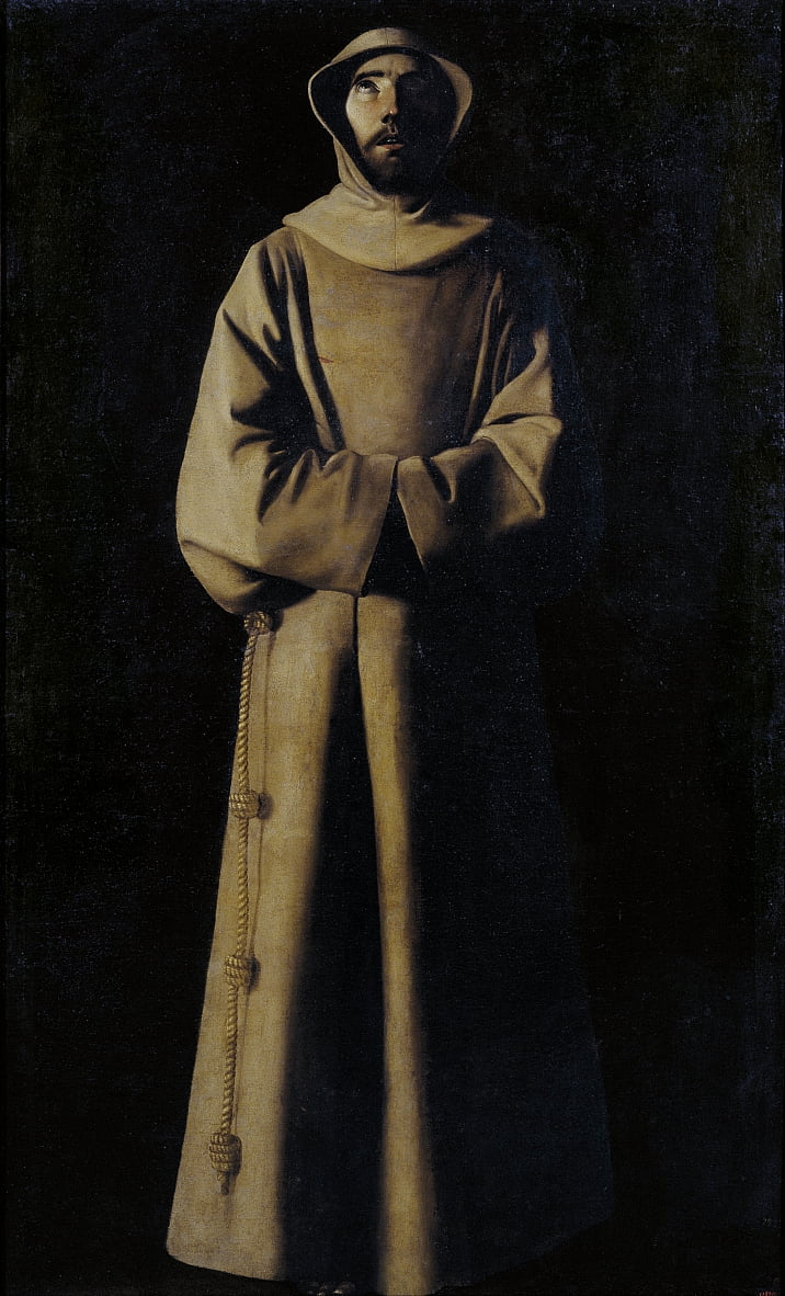 Saint Francis of Assisi according to Pope Nicholas Vs Vision by Francisco de Zurbaran