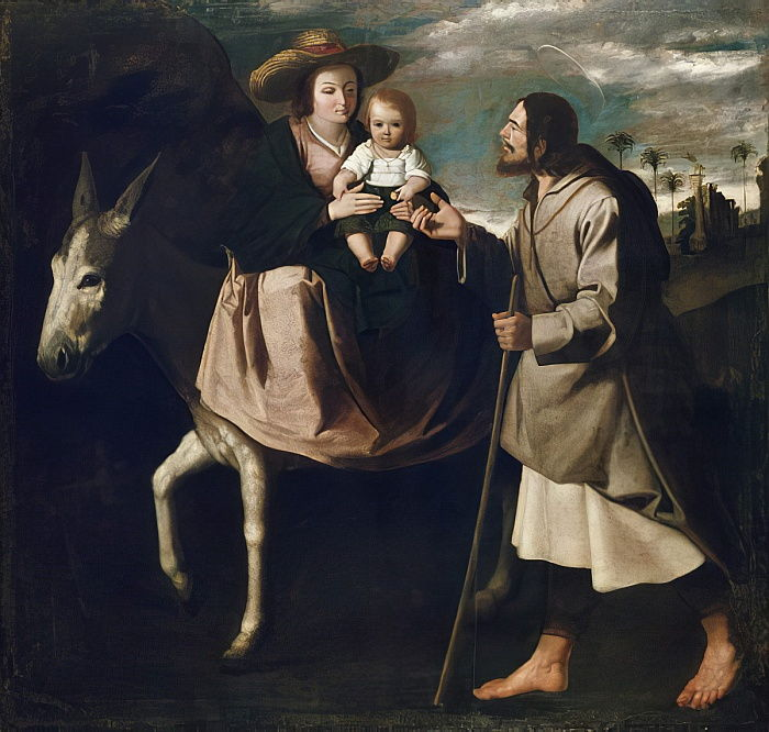 The Flight into Egypt  by Francisco de Zurbaran