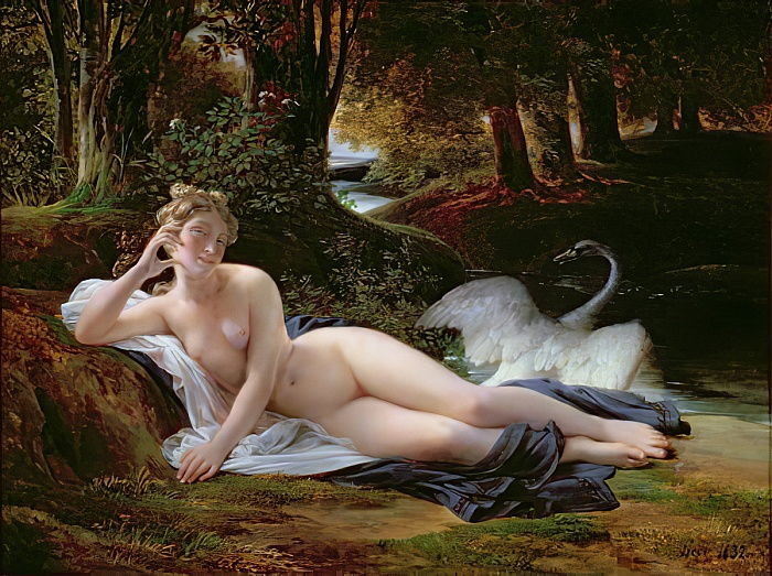 Leda and the swan, 1832 by Francois Edouard Picot