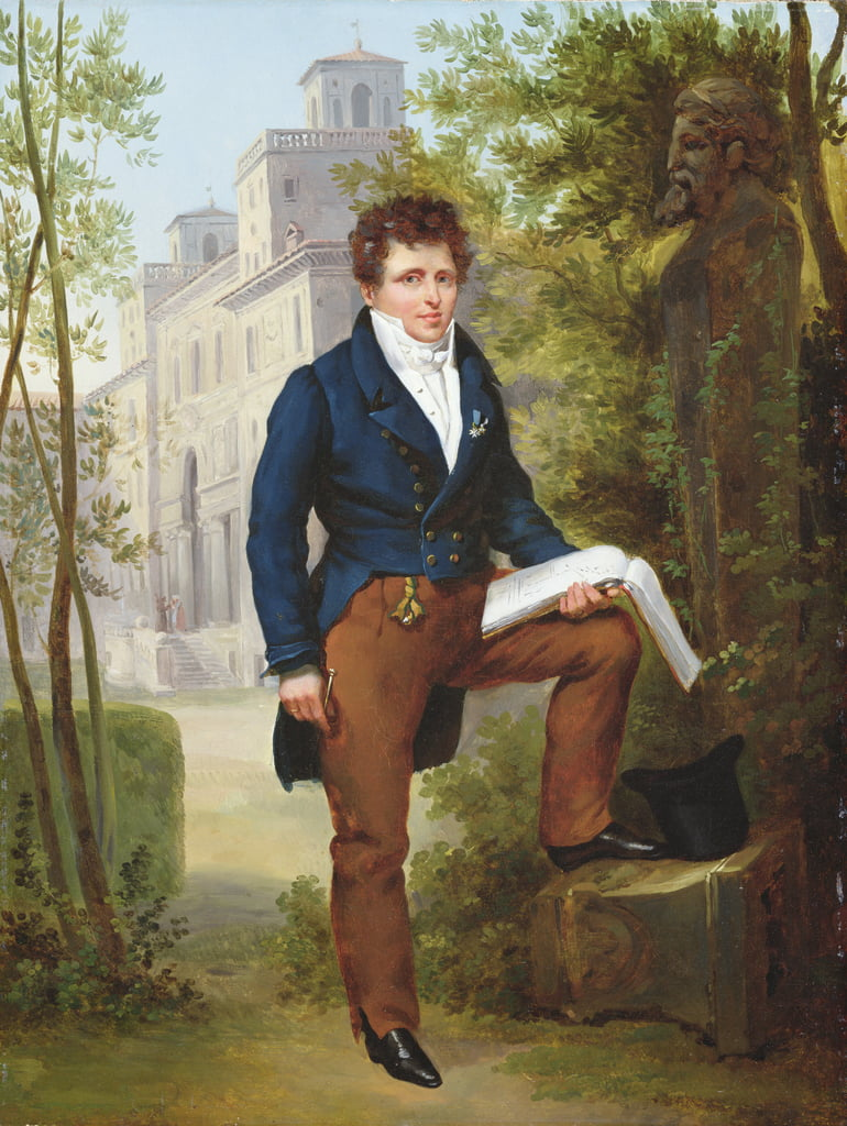Portrait of Nicolas-Pierre Tiolier, c.1817  (for pair see 282838) by Francois Edouard Picot
