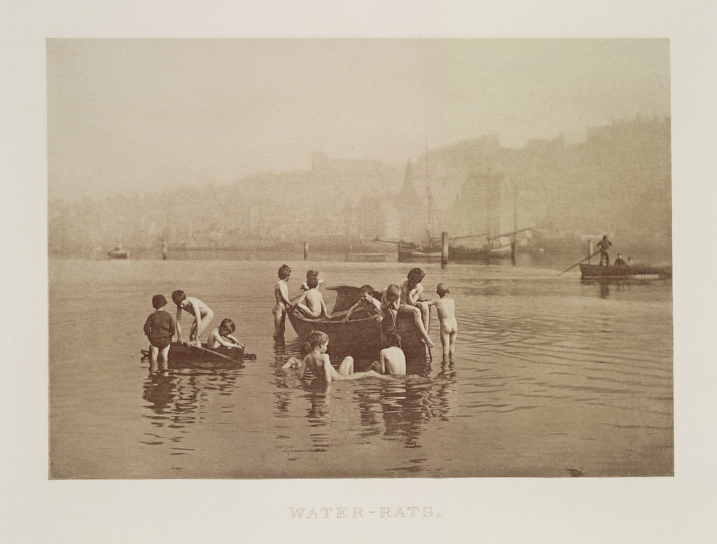 Water-Rats, c.1889 (sepia photo) by Frank Meadow Sutcliffe