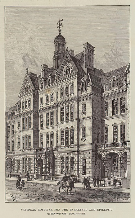 National Hospital for the Paralysed and Epileptic, Queen-Square, Bloomsbury  by Frank Watkins