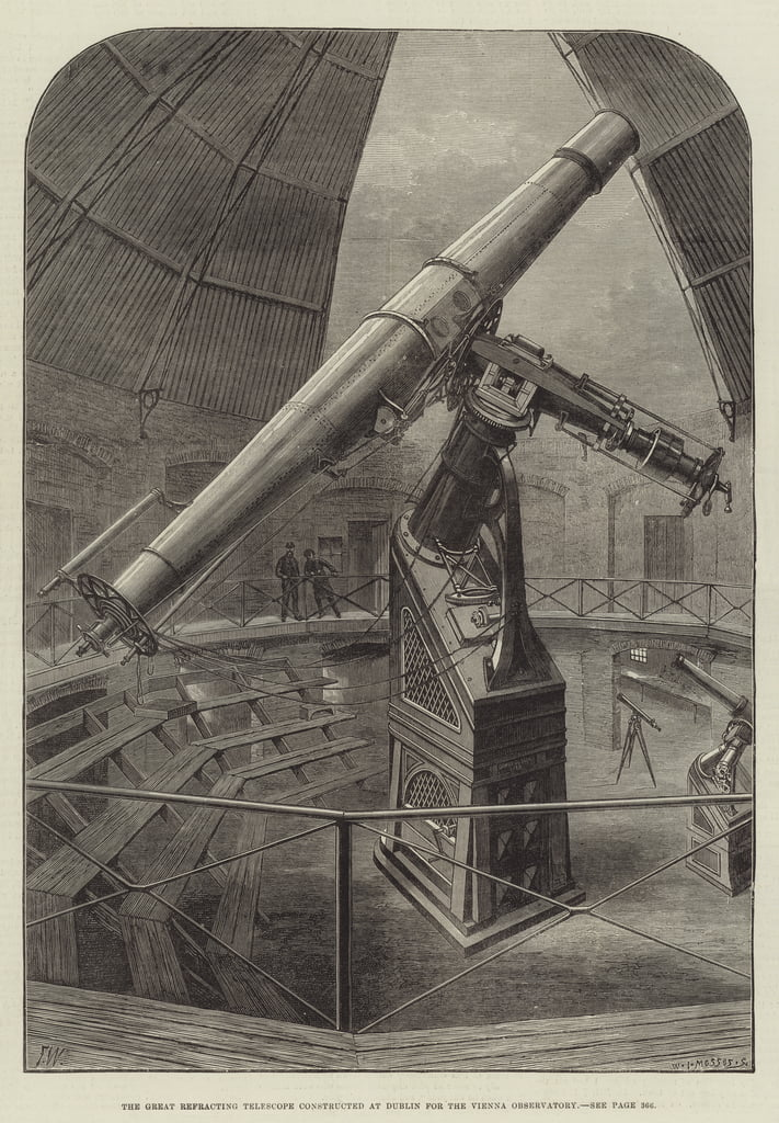 The Great Refracting Telescope constructed at Dublin for the Vienna Observatory  by Frank Watkins