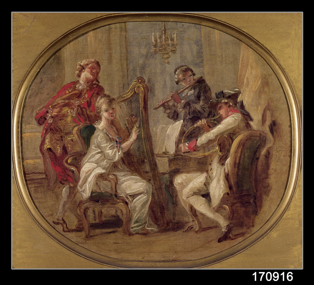 Concert with Four Figures, c.1774  by François André Vincent