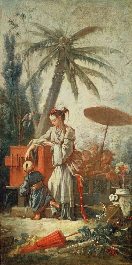 Chinese Curiosity, study for a tapestry cartoon, c.1742  by François Boucher