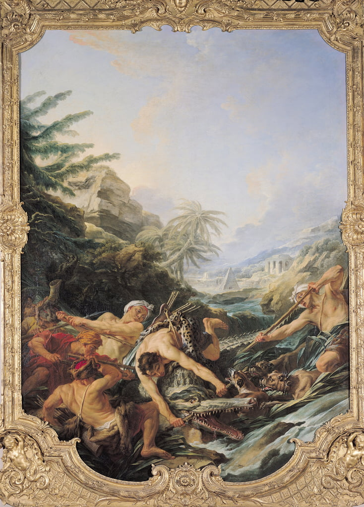 Crocodile Hunt  by François Boucher