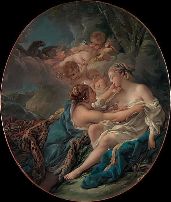 Jupiter, in the Guise of Diana, and Callisto, 1763  by François Boucher
