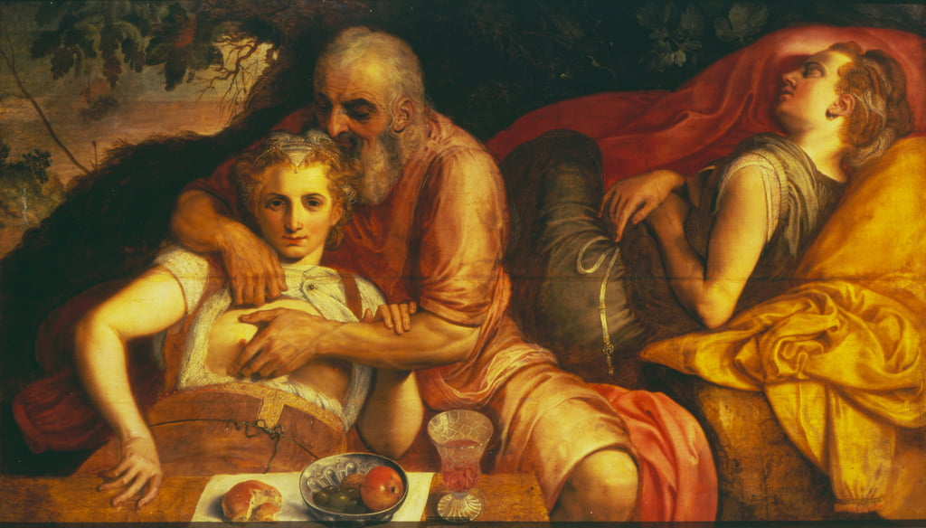 Lot and his Daughters, 1550s (panel) by Frans Floris