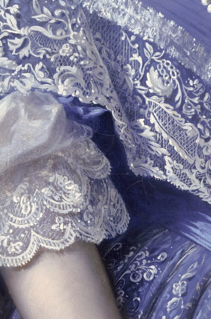Portrait of a woman  (detail) (see 164366, 164367, 164369) by Franz Xaver Winterhalter