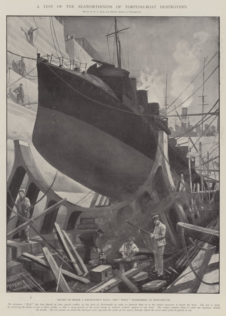 A Test of the Seaworthiness of Torpedo-Boat Destroyers  by Fred T. Jane
