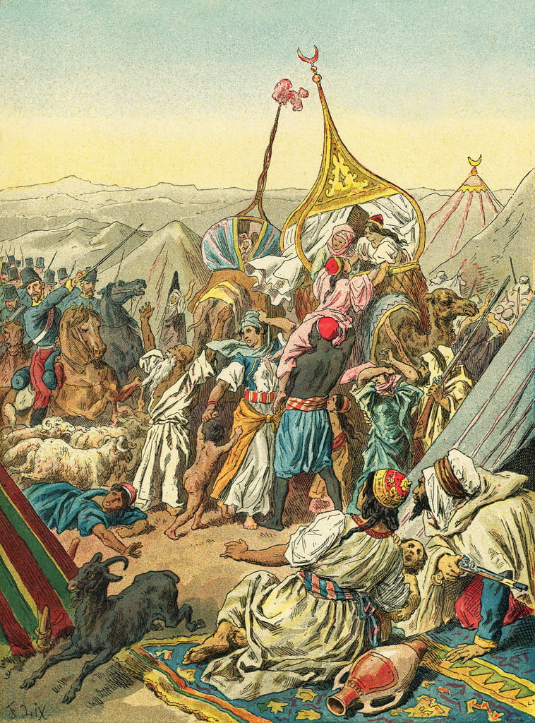 Capture of the tribe of Abd El Kader by Frederic Theodore Lix