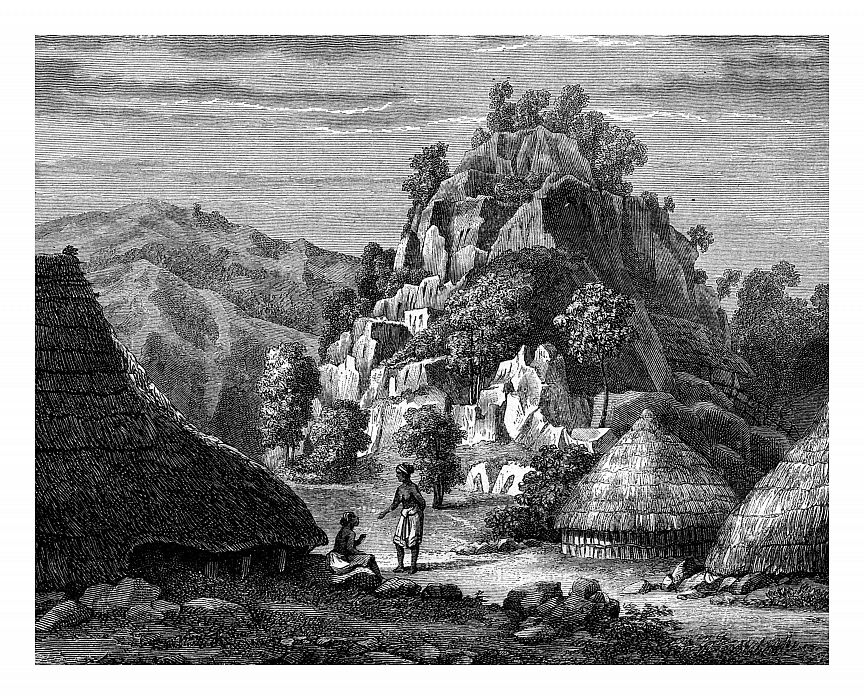 Landscape of the Island of Timor, 19th century. by Frederic Sorrieu