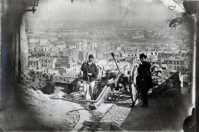 The Cannons of Montmartre during the Paris Commune, 1871  by French Photographer