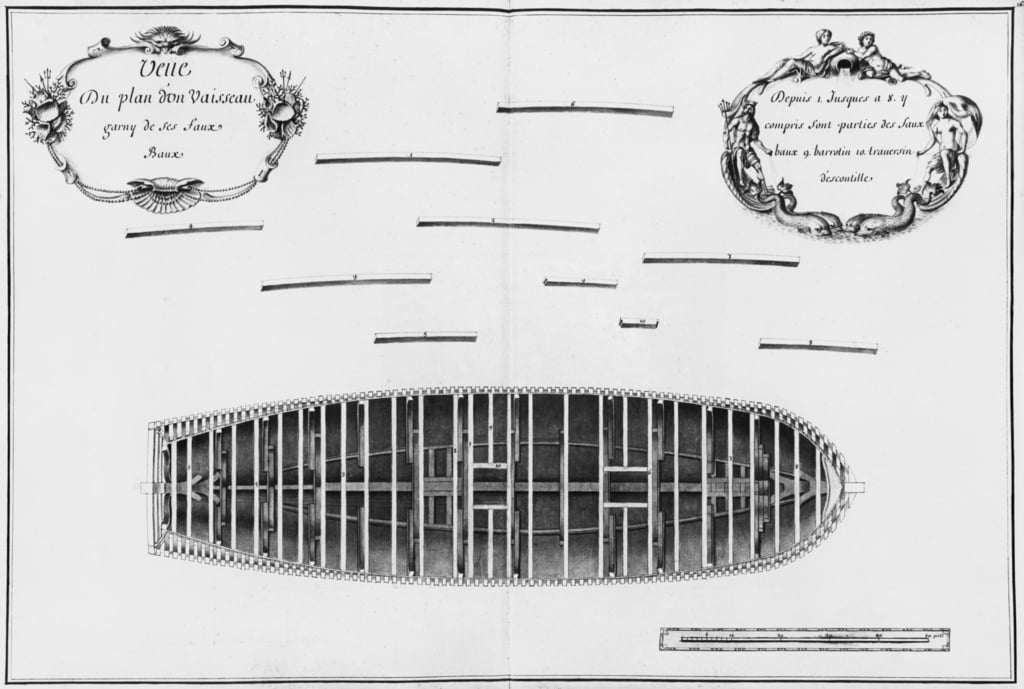 Plan of a vessel, illustration from the