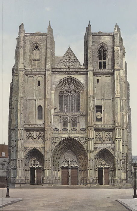 Nantes, Cathedrale, Facade O  by French Photographer