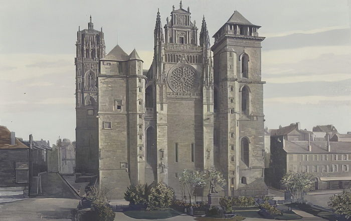 Rodez, Cathedrale, Facade O  by French Photographer