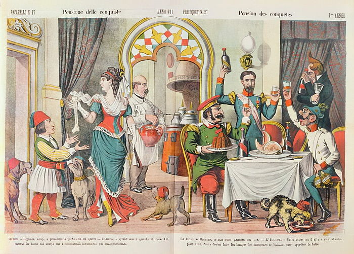 Caricature of the Berlin Congress of 1878, from Le Perroquet magazine 1879  by French School