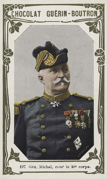 General Michal, commandant le 20e corps (coloured photo) by French School
