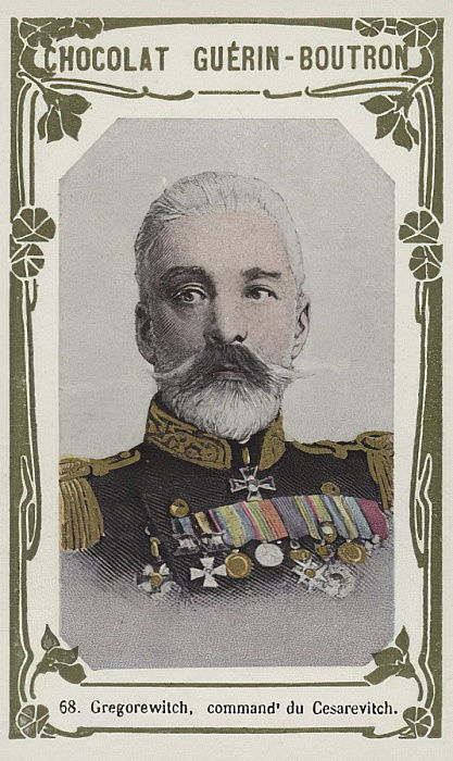 Gregorewitch, commandant du Cesarevitch (coloured photo) by French School