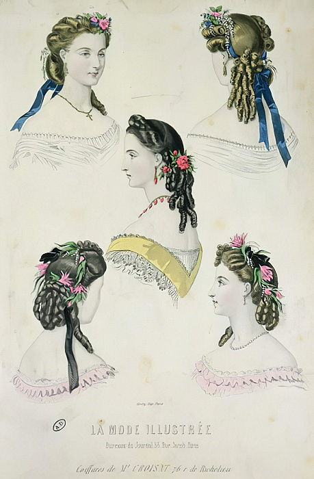 Hairstyles of Monsieur Croisat, from La Mode Illustrée, 1865  by French School