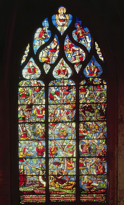 Window depicting the Tree of Jesse  by French School