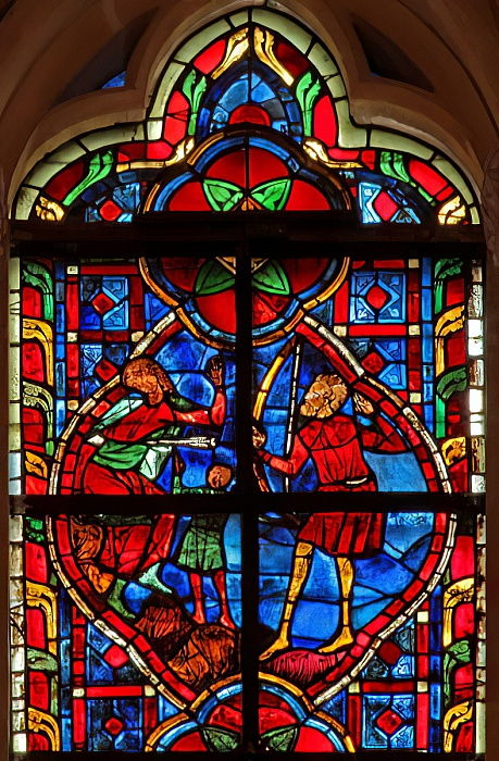 Window w207 depicting Cain killed by his grandson  by French School