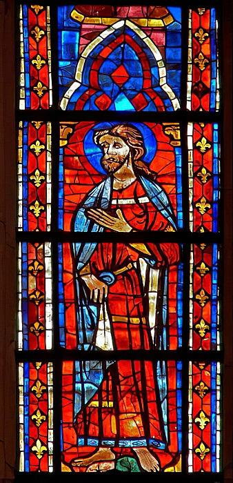 Window w207 depicting an Apostle  by French School