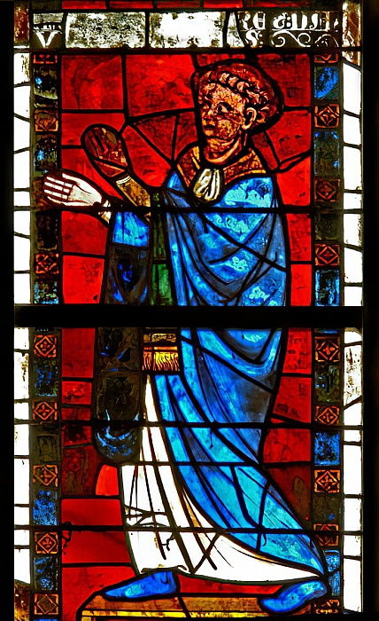 Window w8 depicting a donor  by French School