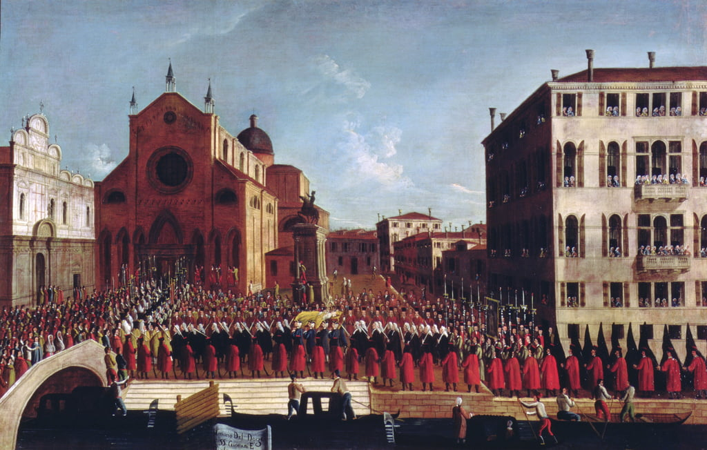 The Funeral of the Doge at SS. Giovanni and Paolo, Venice  by Gabriele Bella