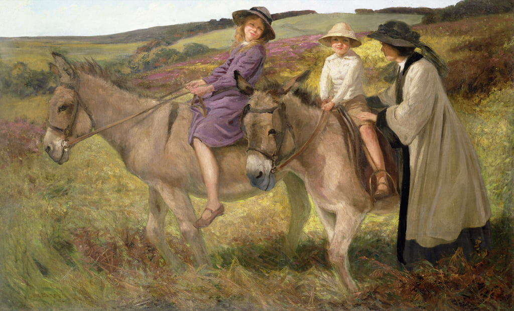 The Donkey Ride, 1912  by George Edmund Butler
