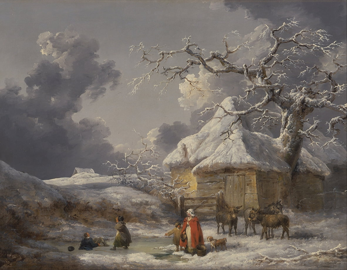 Winter Landscape with Figures by George Morland