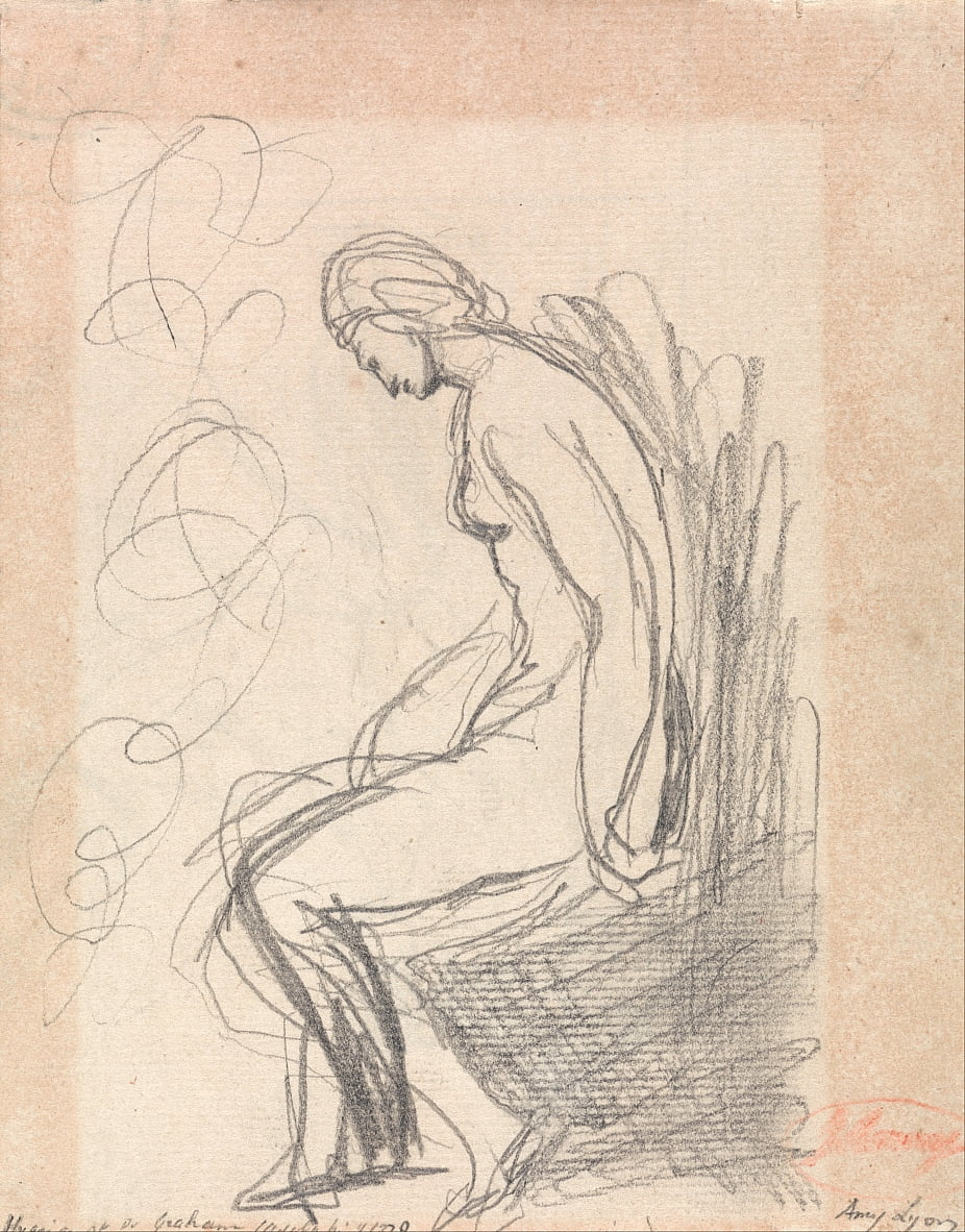 Seated Nude Woman (Hygeia at Doctor Grahams) by George Romney