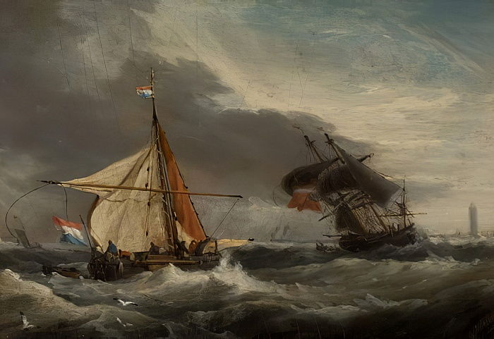 Boats, Mouth of the Tyne  by George Webster