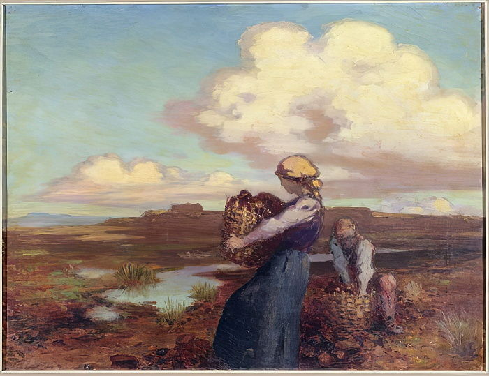 The Peat Gatherers  by George William Russell