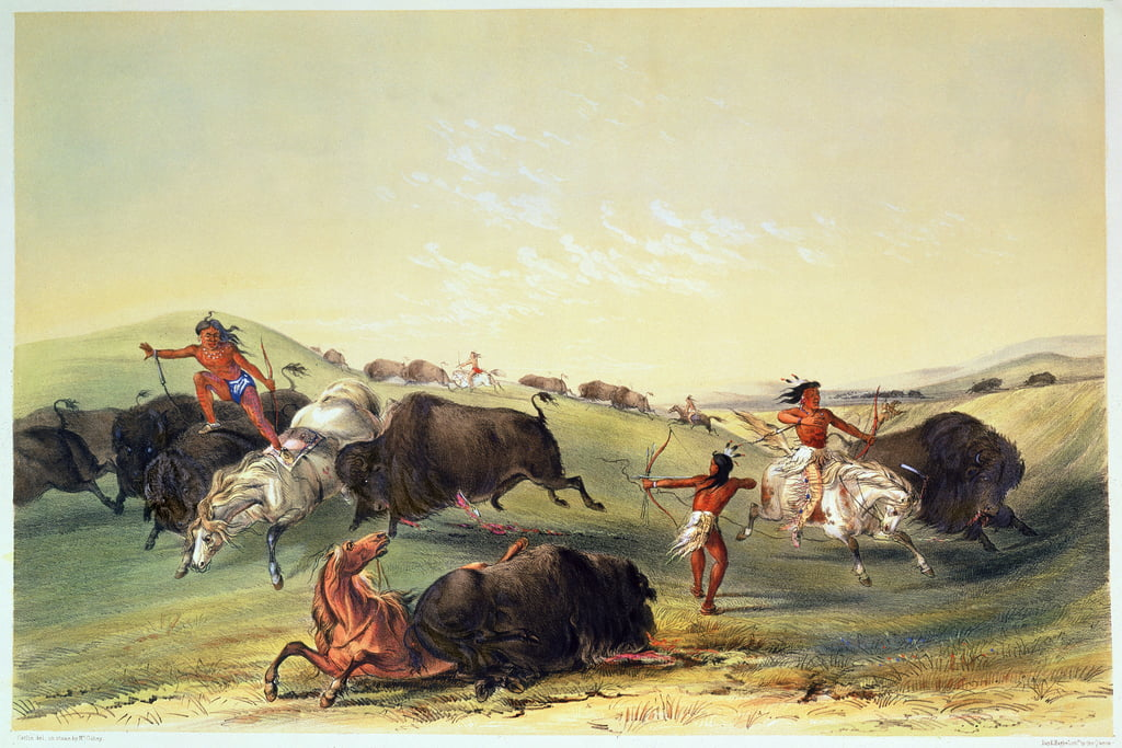 Buffalo Hunt, plate 7 from Catlin