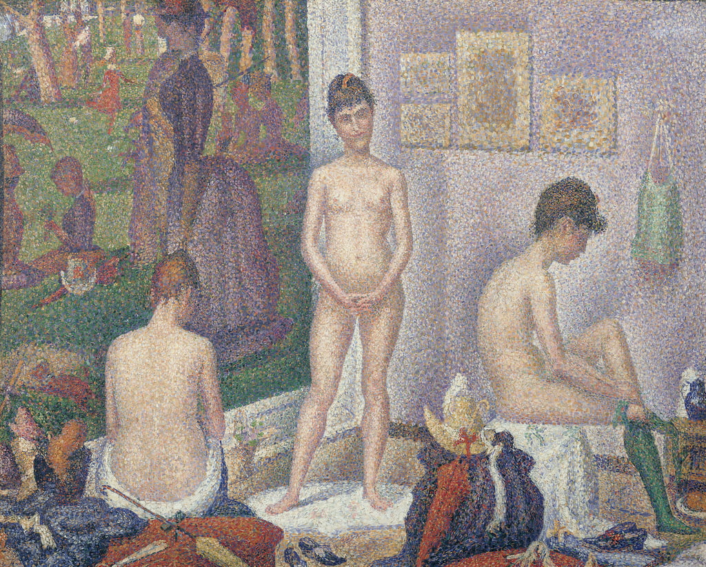 The Models, 1888  by Georges Seurat