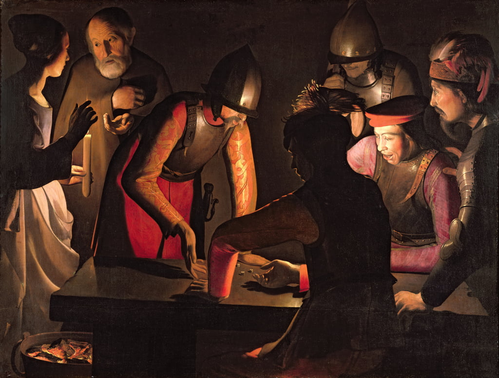 The Denial of St. Peter, 1650  by Georges de La Tour