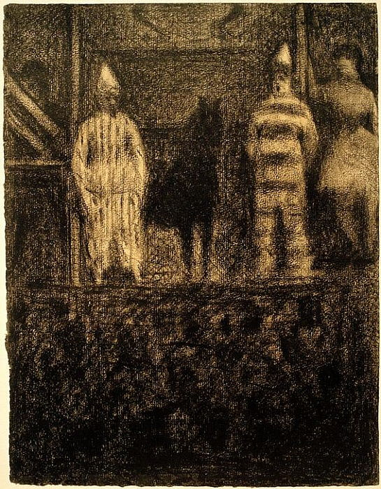 Clowns et poney (Une Parade) (Clowns und Pony / Eine Parade) by Georges Seurat