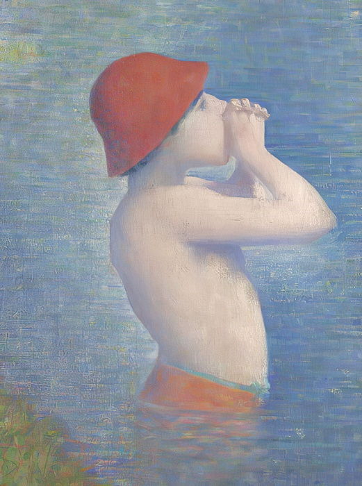 Detail of the Bathers at Asnières, 1884  by Georges Seurat